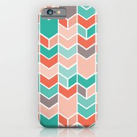 iPhone & iPod Case featuring Multi Colored Chevron by Yellow Heart Art