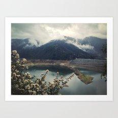 San Gabriel Dam Art Print
