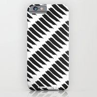 Black and White Tiger Stripes iPhone 6 Slim Case