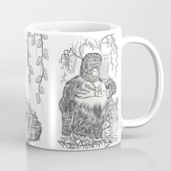 Jungle Gorilla and his Cat Mug