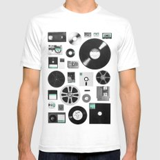Data SMALL White Mens Fitted Tee