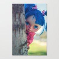 Little naughty girl Blythe Canvas Print