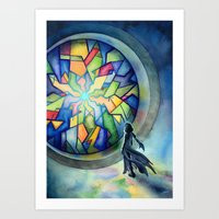 The Gate Of Many Panes Art Print