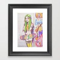 ☮ Grasshopping ☮ Framed Art Print
