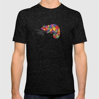 World's Worst Chameleon Mens Fitted Tee Tri-Black SMALL