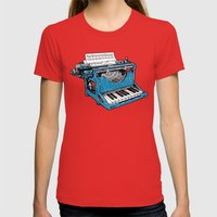 The Composition - Original Colors. Womens Fitted Tee Red SMALL