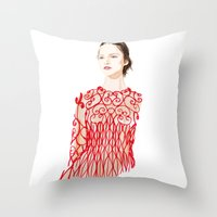Valentino Red Throw Pillow