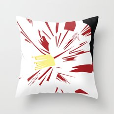 Camellia Flower Throw Pillow
