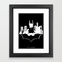 Bat in the City Framed Art Print