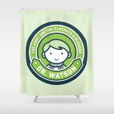 Cute John Watson - Green Shower Curtain