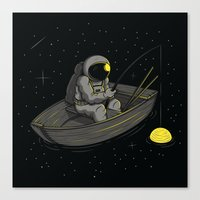 Lonely Fishing Canvas Print