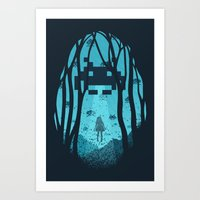 8 Bit Invasion Art Print