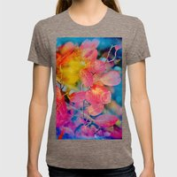 Autumn´s Painting... Womens Fitted Tee Tri-Coffee SMALL
