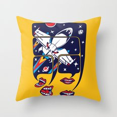 Let's talk about spaceships Throw Pillow