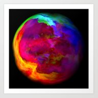Gas Earth Art Print
