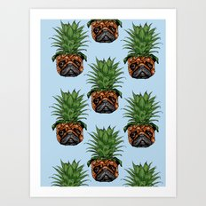 Pineapple Pug  Art Print