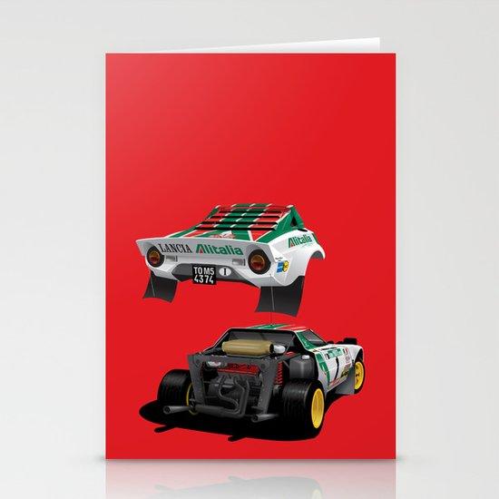 Lancia Stratos Stationery Card