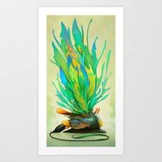 Feathered Tethridon Art Print