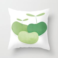 Three peas from a pod Throw Pillow