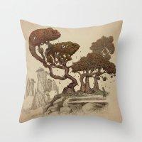Autumn Chameleons  Throw Pillow