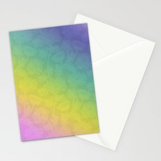 Floral rainbow color pattern . Stationery Cards