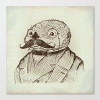Proper Mr. Otter Canvas Print