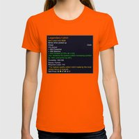 Legendary Womens Fitted Tee Orange SMALL