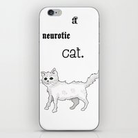 Neurotic Cat iPhone & iPod Skin