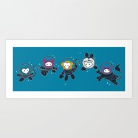 Animals In Space Art Print