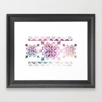 Neo-Ro Pattern Framed Art Print