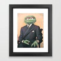 Sir Oscar Grouch Framed Art Print