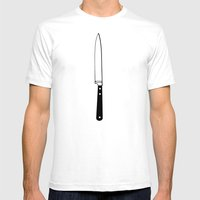 THE KNIFE Mens Fitted Tee White SMALL