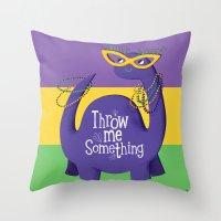 Bacchusaurus! Throw Pillow