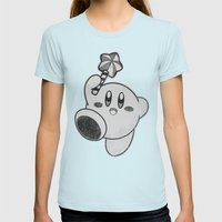 Kirby's Dream Land Womens Fitted Tee Light Blue SMALL
