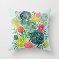 Succulent Circles Throw Pillow