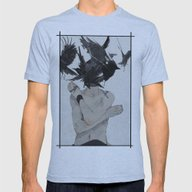 Crows Mens Fitted Tee Athletic Blue SMALL