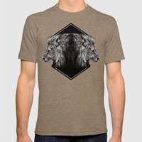 Roar Mens Fitted Tee Tri-Coffee SMALL