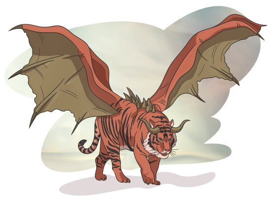 Manticore illustration Art Print