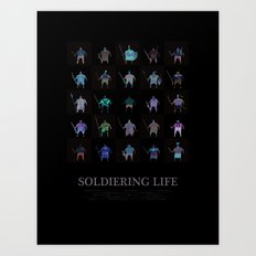 Soldiering Life Art Print