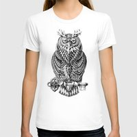 owl T-shirts featuring Great Horned Owl by BIOWORKZ