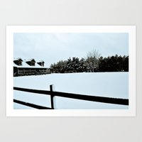 Touched by Snow Art Print