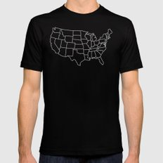 Ride Statewide - USA Mens Fitted Tee Black SMALL