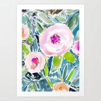 Ballerina Blow Out Flora… Art Print