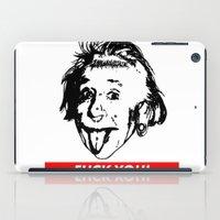 Albert Einstein. Rebel: F**k You! iPad Case