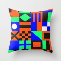 Nautical Alphabet Invert… Throw Pillow