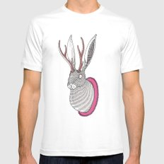 Deer Rabbit Mens Fitted Tee White SMALL