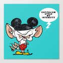 Brain of Animaniacs : Capitalism Stole My Integrity; all i want is a world domination.  Canvas Print