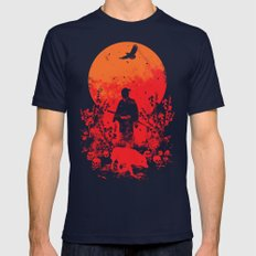 red sun Mens Fitted Tee Navy SMALL