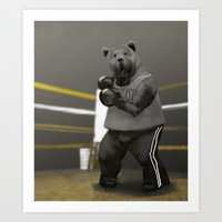 Old School Champion 1 Art Print