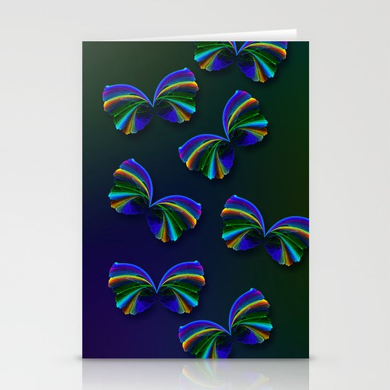 Rainbow Butterfly Stationery Card